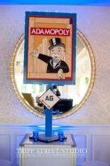 Adamopoly sign.
