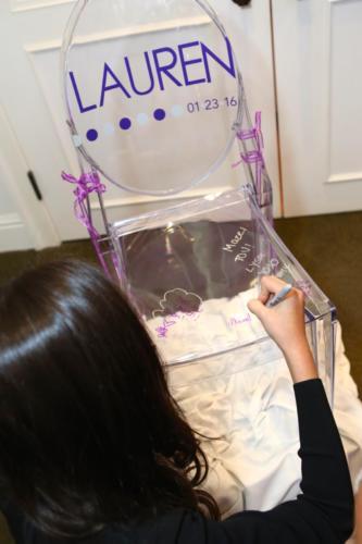 Lauren sign in chair