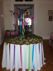 ava in wonderland escort card table