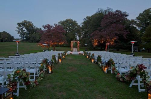 Lyndhurst ceremony with lights