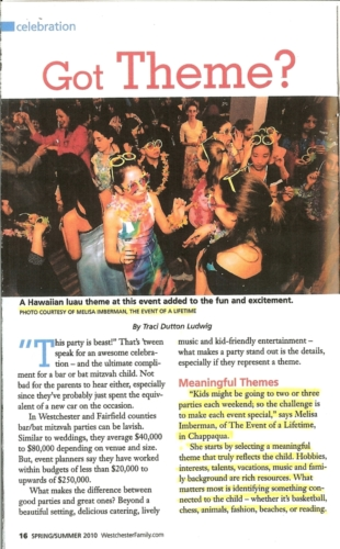 Westchester Family Bar Mitzvah Guide sp '10 p1