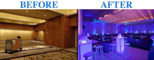 Before & after @ home Bar Mitzvah