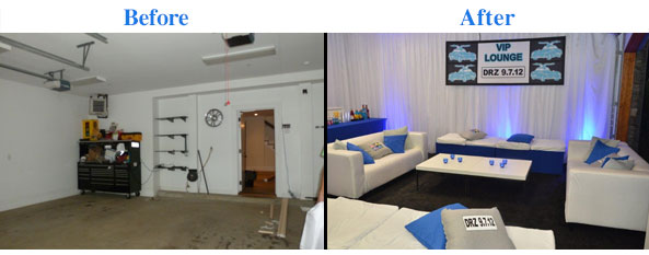 Before & after @ home Bar Mitzvah kgal