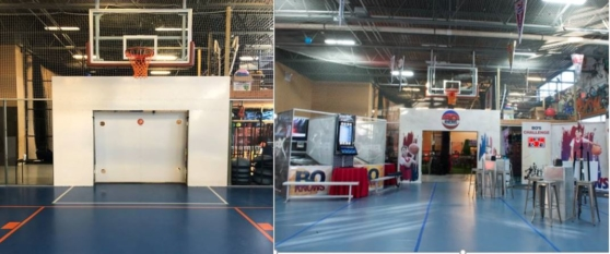 before  after bball court entrance