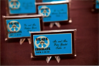 chocolate escort cards