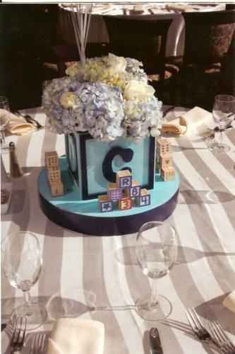 christening centerpiece-blocks