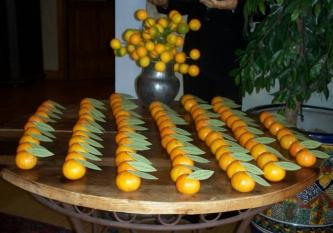 orange escort table