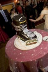 ski boot cake